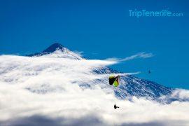 paragliding teide sneeuw